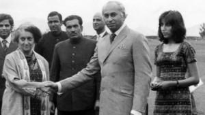पाकिस्तान के राष्ट्रपति ज़ुल्फ़िकार अली भुट्टो अपनी बेटी बेनजीर भुट्टो के साथ वार्ता के लिए शिमला पहुंचे