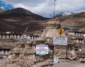 किब्बर गांव के ऊपर याकतिन छूलिंग बौद्ध लामा मंदिर
