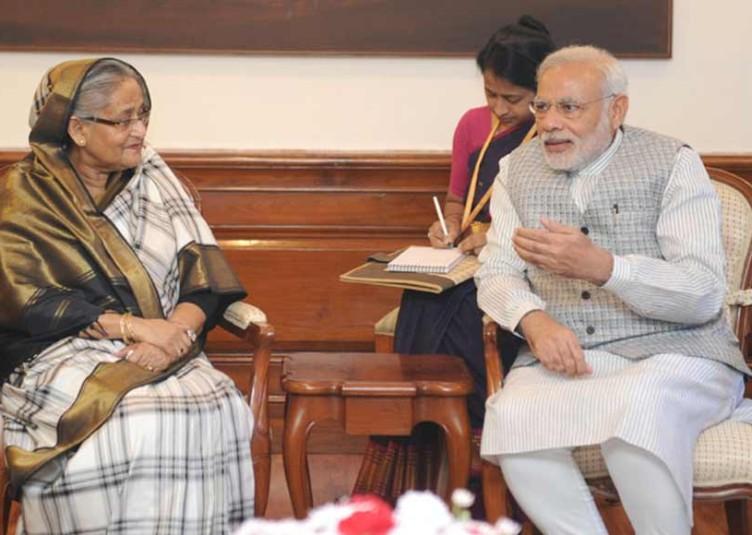 बांग्लादेश की प्रधानमंत्री ने की प्रधानमंत्री मोदी से मुलाकात