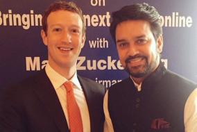 अनुराग ठाकुर ने की फेसबुक के संस्थापक मार्क जक़रबर्ग से मुलाकात