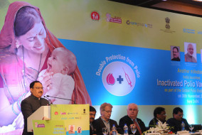 "जे.पी.नड्डा ""इनएक्टिवेटेड पोलियो वैक्सीन"" के शुभारंभ के अवसर पर"