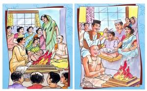 शिशु के होने पर, जन्म संस्कार, नामकरण संस्कार, मुंडन संस्कार और यज्ञोपवती, यानि प्रदेश में इस संस्कार की अपनी महत्ता है