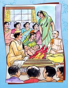 हिमाचल के पूर्वी क्षेत्रों में बच्चे के प्रथम संस्कार को कहा जाता है गूंतर या दस्सोतां