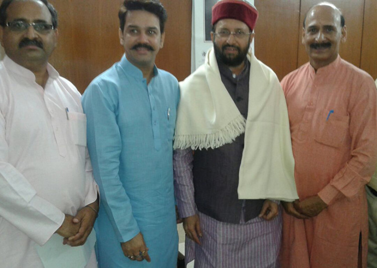 अनुराग ने की केंद्रीय मंत्री से देहरा में केंद्रीय विश्वविद्यालय जल्द स्थापित करने की मांग