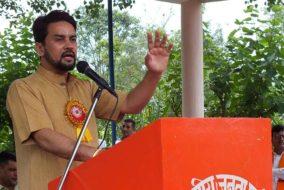 हमीरपुर ऊना रेल लाइन का नींव पत्थर रखने जल्द आएंगे केन्द्रीय रेल मंत्री: अनुराग ठाकुर