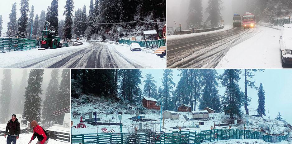 हिमाचल में बर्फबारी और बारिश का दौर जारी, पर्यटकों का बर्फ से ढकी हिमाचल की हसीन वादियों की ओर रुख