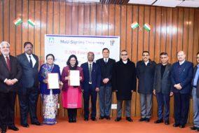 एसजेवीएन फाऊंडेशन ने राष्ट्रीय विधि विश्वविद्यालय के साथ किए एमओयू पर हस्ताक्षर