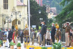 शिमला ऐतिहासिक केरिज मैदान पर सादगी पूर्वकमनाया 73वां हिमाचल दिवस समारोह
