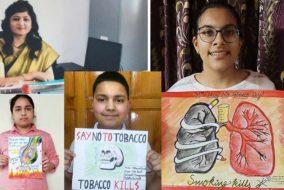 शिमला: दयानंद स्कूल के विद्यार्थियों ने अपनी सन्देशवाहक कलाकृतियों के माध्यम से दिया समाज को तंबाकू से दूर रहने का संदेश