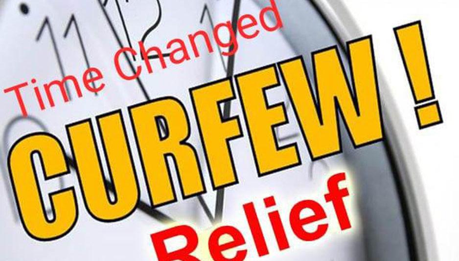 जिला सोलन में अब र्क्फ्यू ढील का समय 8.00 बजे से सांय 3.00 बजे तक