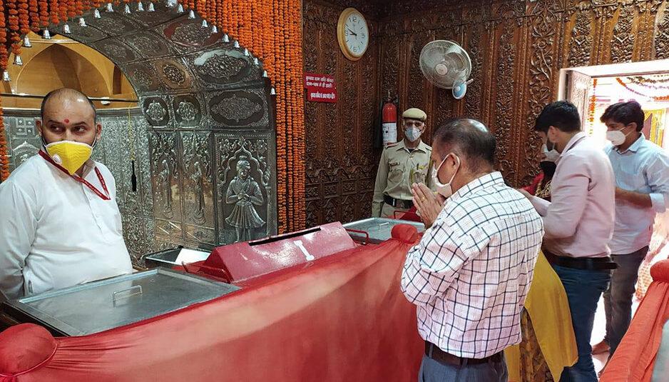 त्रिलोकपुर: आश्विन नवरात्र के ग्याहरवे दिन 1200 श्रद्धालुओं ने किए माता के दर्शन