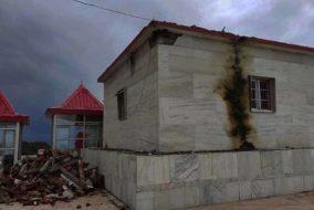 चायल : आसमानी बिजली गिरने से खंडित हुआ काली टिब्बा मंदिर